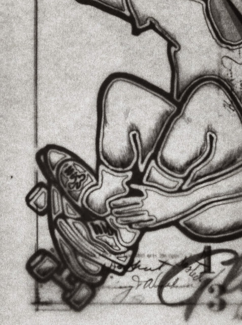 Pencil Sketch, Skateboard