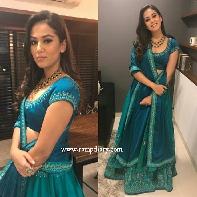 Mira Kapoor In Anita Dongre for Diwali celebrations