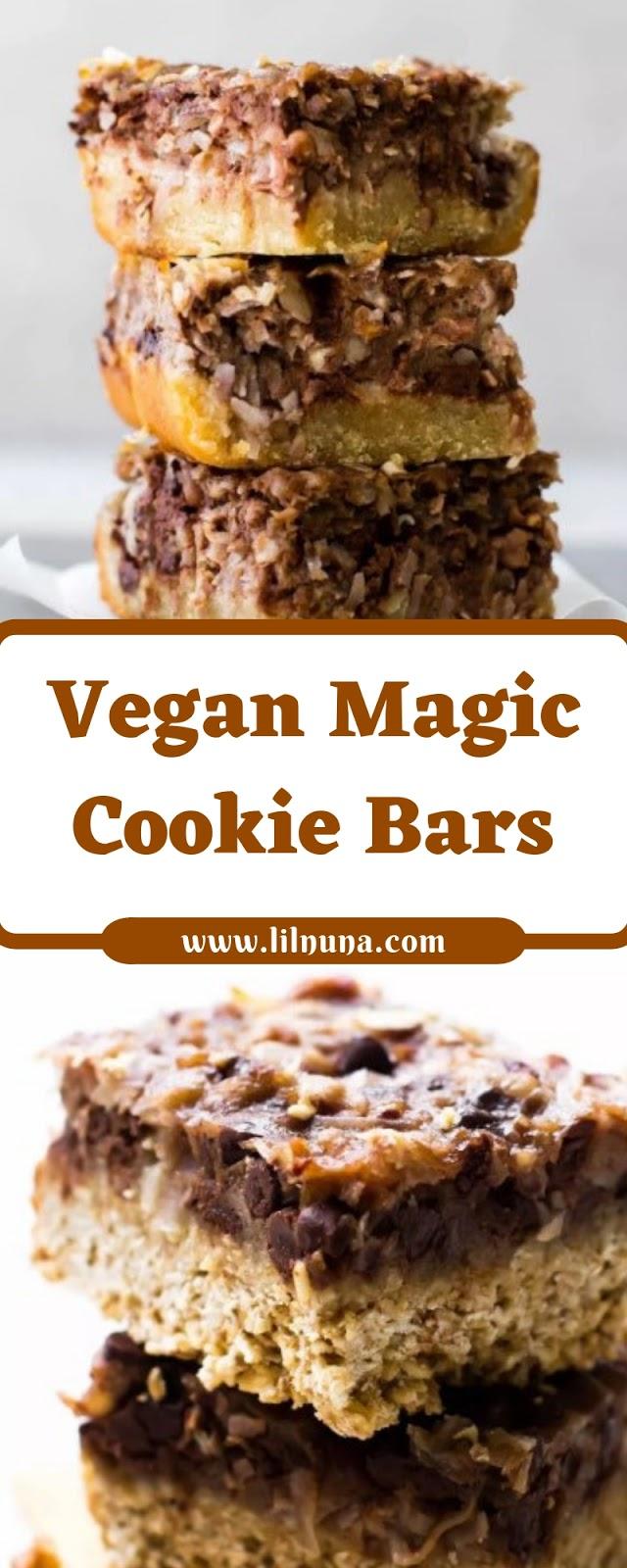Vegan Magic Cookie Bars