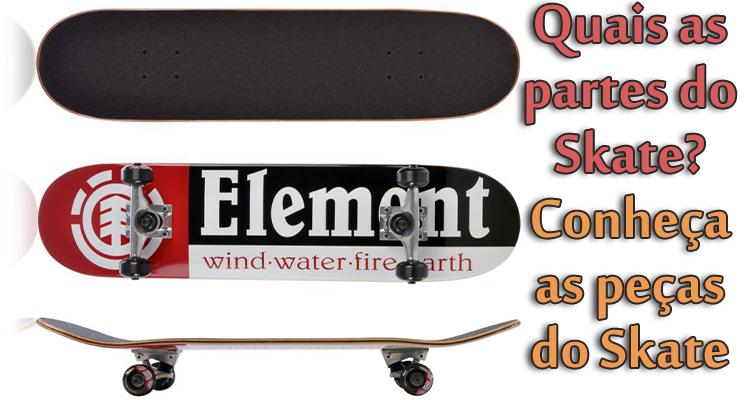 Quais as partes do Skate? Conheça as peças do Skate