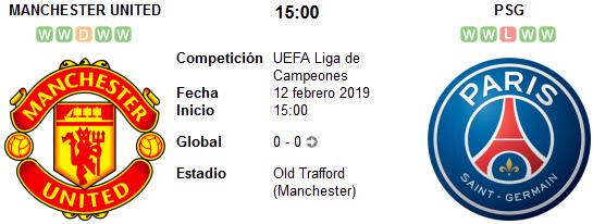 Manchester United vs PSG en VIVO
