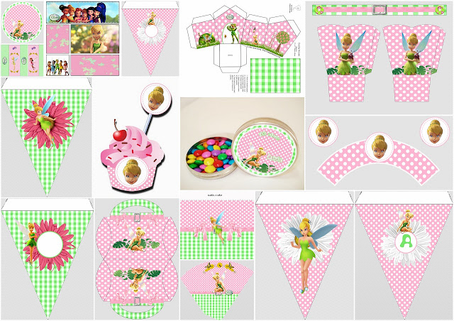 Tinker Bell: Free Printable Birthday Party Kit.