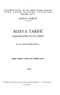 Akdes Nimet Kurat - Rusya Tarihi - Başlangıçtan 1917'e Kadar