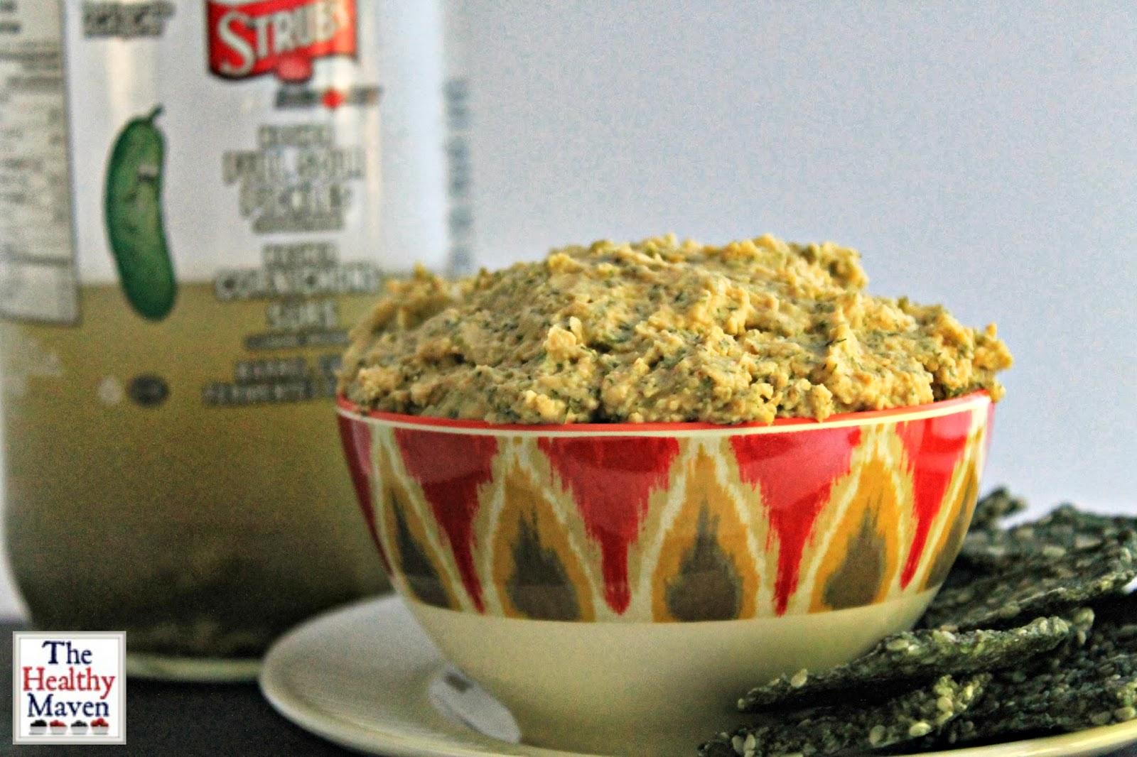 Peanut Butter Dill Pickle Hummus