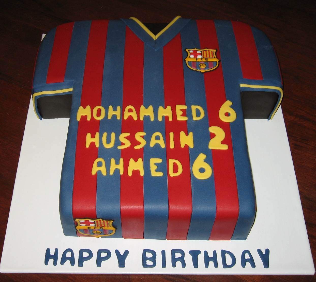 83a22ffb1 Let Them Eat Cake  Barcelona Football Shirt cake