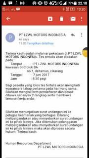 PT LZWL Motor Indonesia