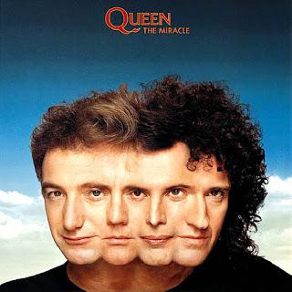 "Capa do disco ""The Miracle"" lançado em 1989 pelo grupo Queen"