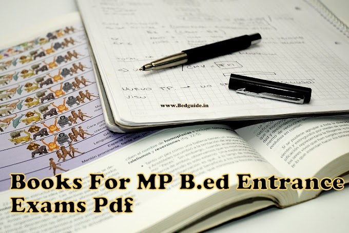 Best Books For MP B.ed Entrance Examination Pdf 2019