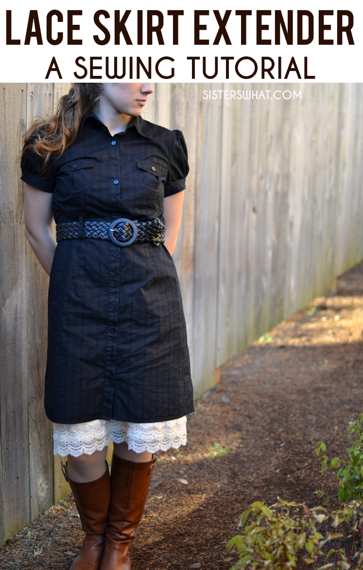 an easy tutorial on making an lace skirt extender to add length to any short dress!