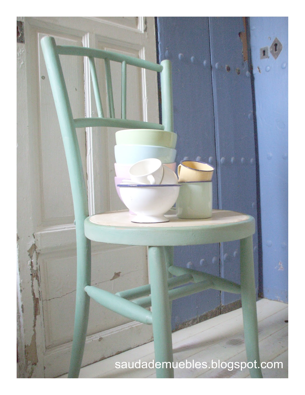 Saudade pareja de sillas - Pintar sillas de madera ...
