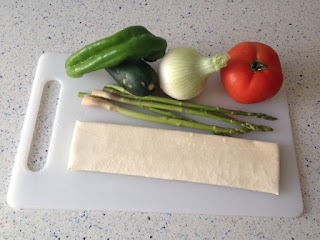 Ingredientes coca de verduras