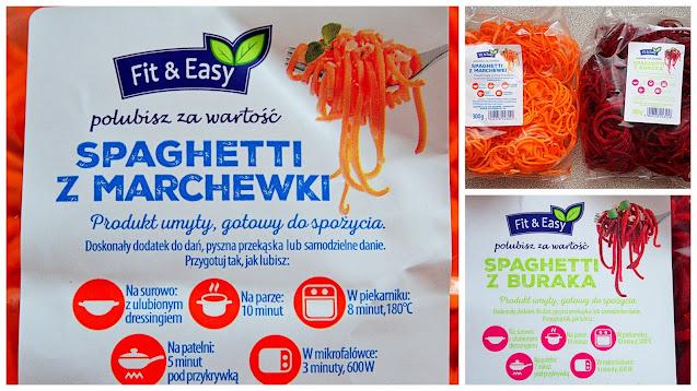 spaghetti z marchewki