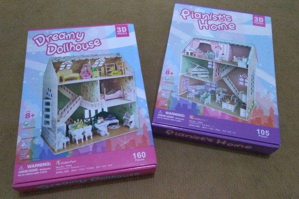 3D Puzzle Cubic Fun Pianist Home dan Dreamy Dollhouse