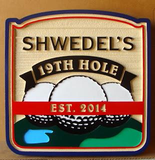 placas para golfe