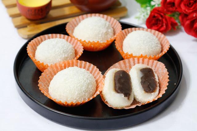 Công thức làm bánh mochi nhân đậu đỏ mềm dẻo, đơn giản tại nhà - 10