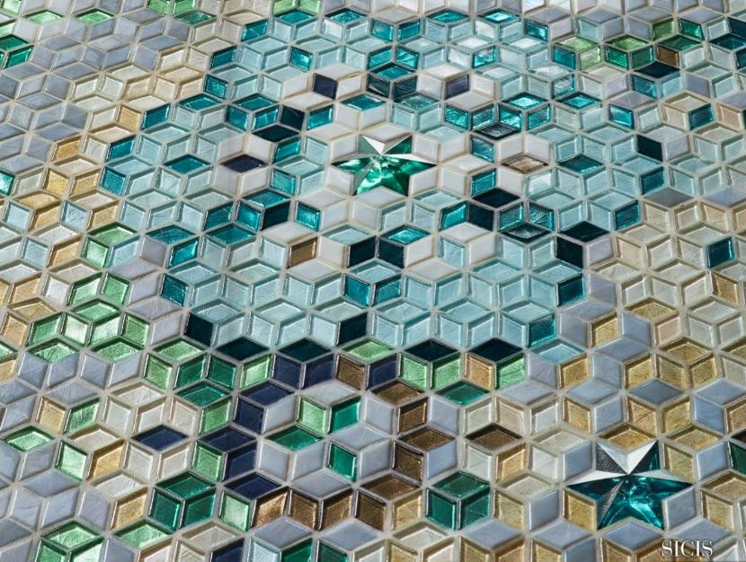 Sicis diamond mosaic piastrelle quadrate texture vadeburg