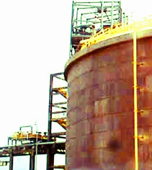 Cryogenic concrete tank for petroleum refinery