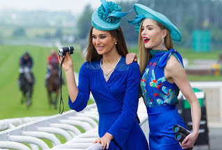 Women watching at The Curragh