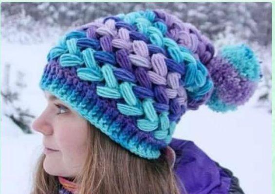 Sues Crochet And Knitting Braided Puff Stitch Hat Crochet