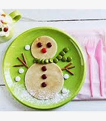 Снежен човек от храна идеи за празничната трапеза