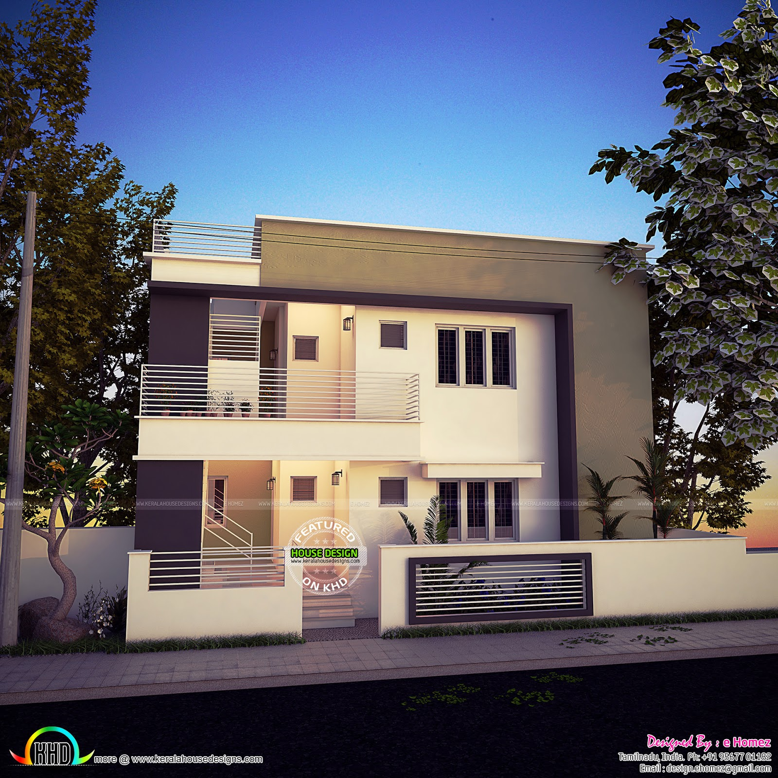 4 Bedroom Modern Home 178 Sq M Kerala Home Design And
