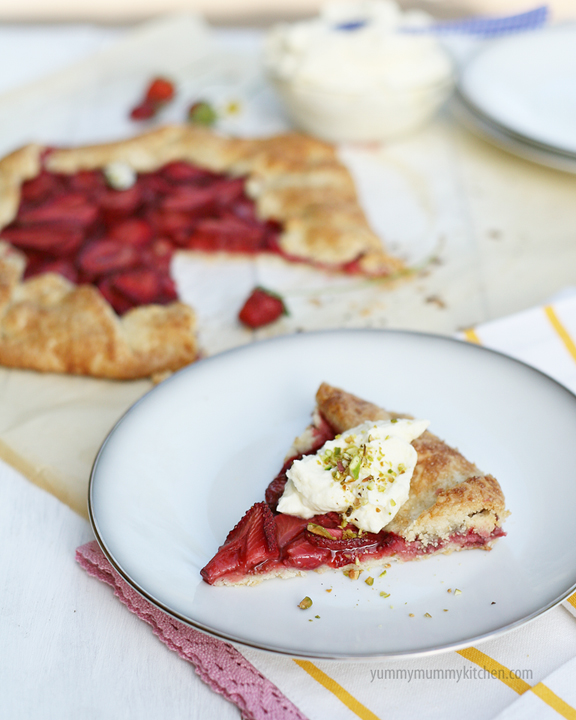 The Yummy Mummy Kitchen Cookbook: Easier Than Pie: Balsamic Strawberry Crostata With