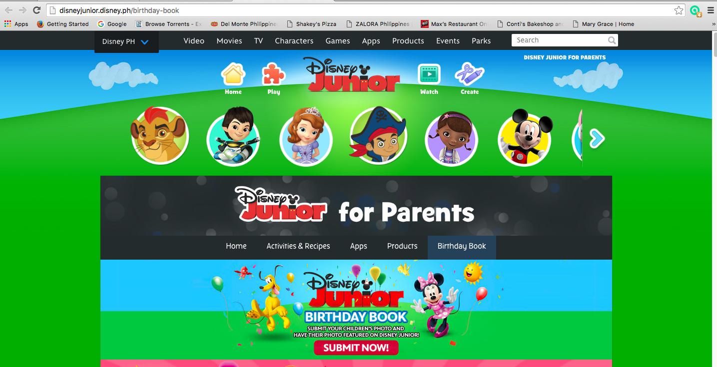 The Working Momma Diaries Disney Junior Birthday Book Registration