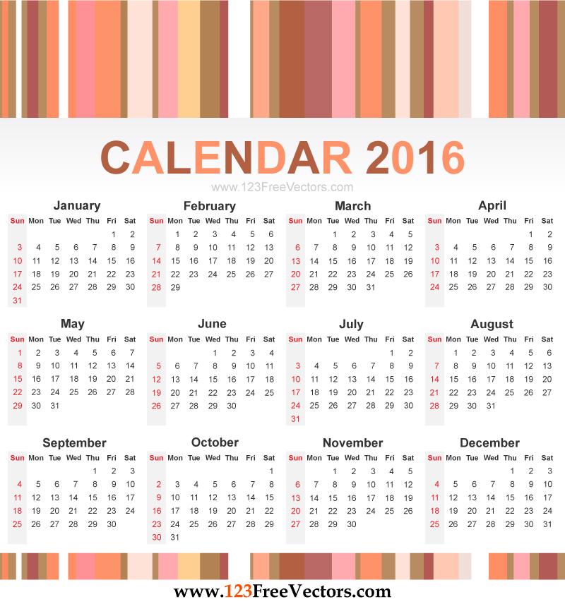 Year Calendar Vector : The  copyright year