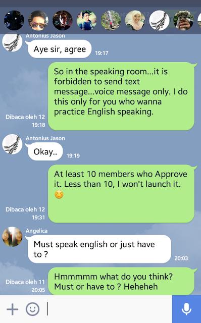 group belajar bahasa inggris online di line