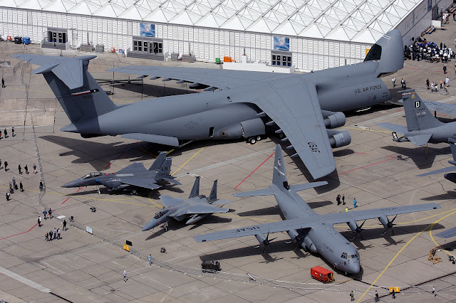 Boeing C5 Galaxy C-130 Hercules F-15 Eagle Size Comparison