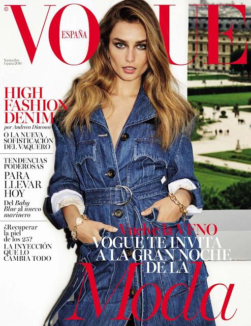 Fashion Model, @ Andreea Diaconu by Ezra Petronio for Vogue Spain September 2016