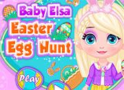 Baby Elsa Busca Huevos de Pascua
