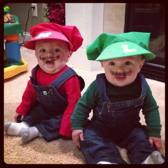 best scary halloween costumes twins baby