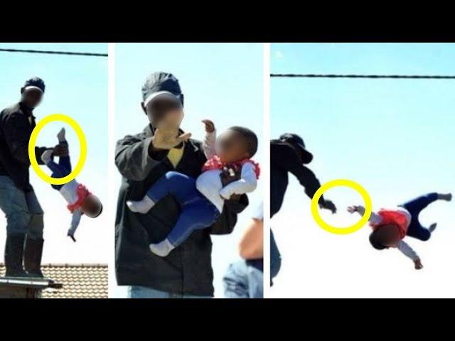 Ayah Lempar Bayi 6 Bulan Agar Rumah Tidak Di Gusur Petugas