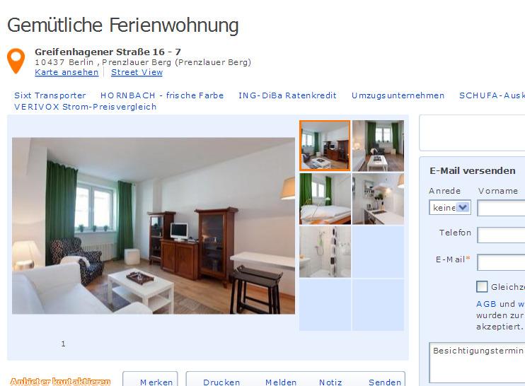 Zimmer Wohnung Berlin Prenzlauer Berg Mieten
