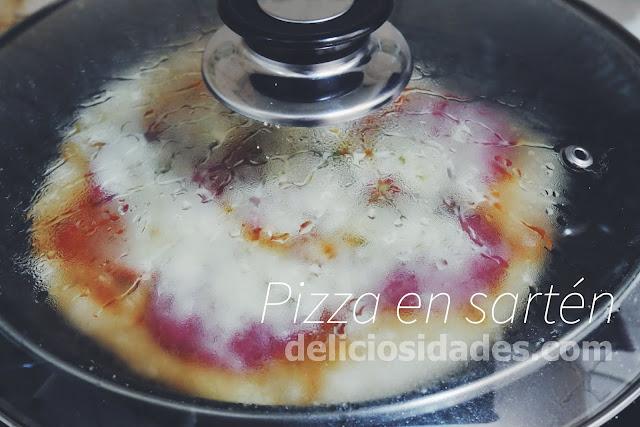 deliciosidades - Receta para hacer pizza en sartén