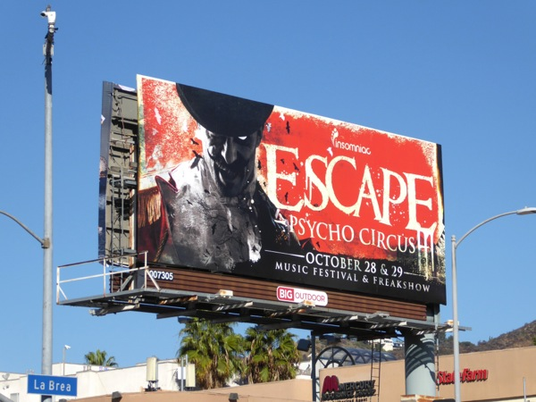 Insomniac Escape Psycho Circus billboard