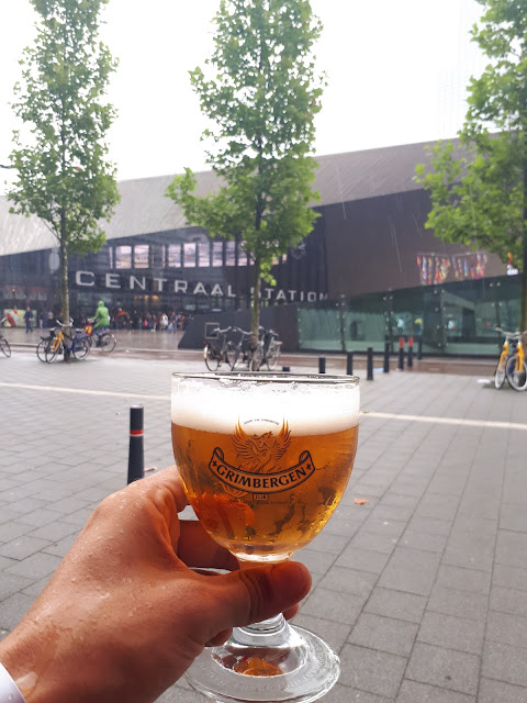 Grimbergen beer at Centraal station in Rotterdam, The Netherlands