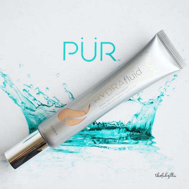 spring beauty trend, pur cosmetics hydra fluid water serum foundation, swatch, review