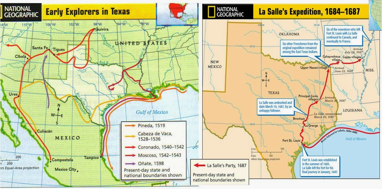 Map Of Texas Quiz.Grade 7 History Literature Logic Map Quiz On Spanish French