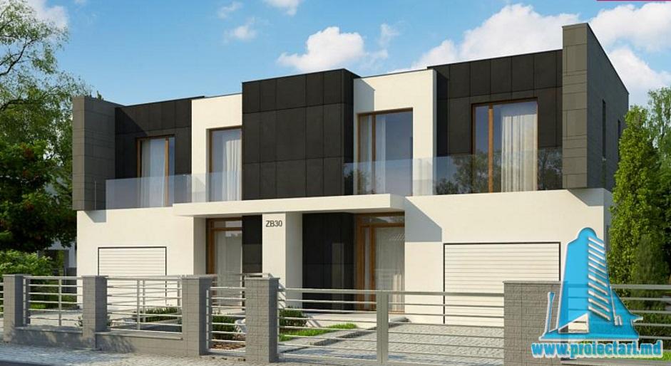 Proiecte de case proiect de casa duplex cu parter etaj for Proiecte case cu etaj si terasa