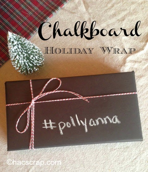 Chalkboard Holiday Wrap Idea and How-To