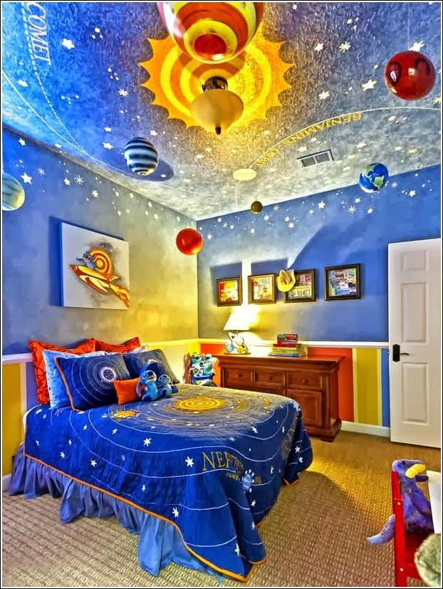 Dormitorios para ni os tem tica universo dormitorios for Dormitorio para 4 ninos