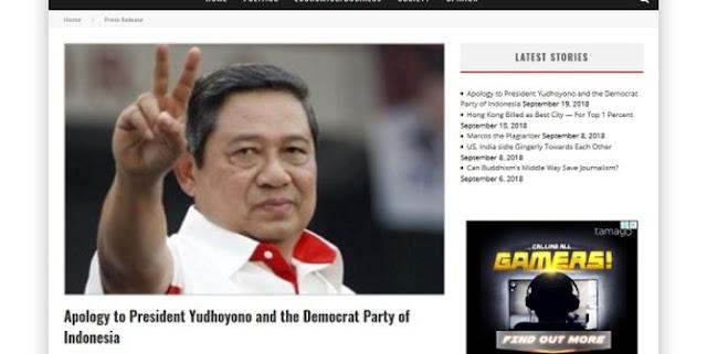 Sudah Lelah Difitnah 10 Tahun, SBY minta Jokowi bantu perjuangkan Martabatnya