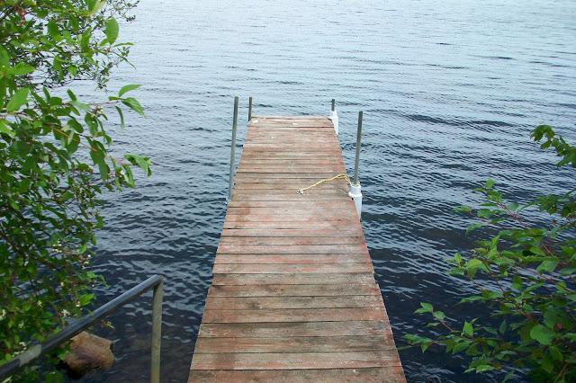 boat dock on inland lake in Thunder Bay