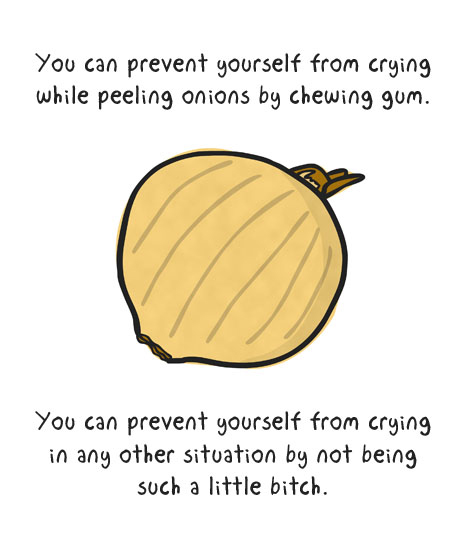 prevent yourself from crying