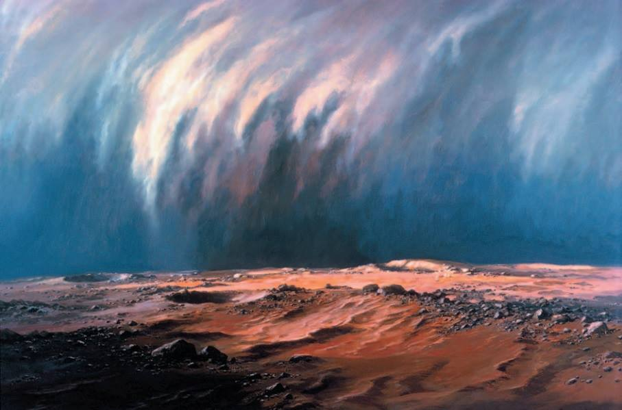 Dust storm on Mars by Ludek Pesek