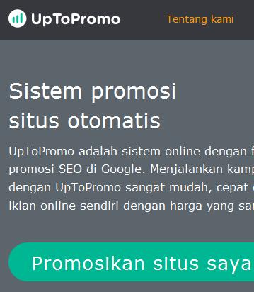 Uptopromo.com, Cara Mudah Menghasilkan Uang dari Website Anda