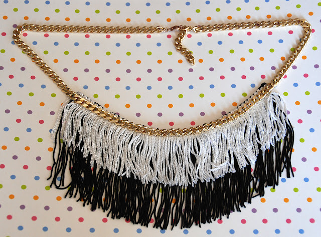 Tutorial diy: collana con frange