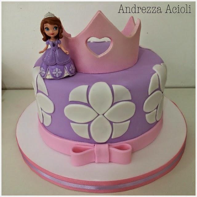 Princesa Sofia bolo com pasta americana